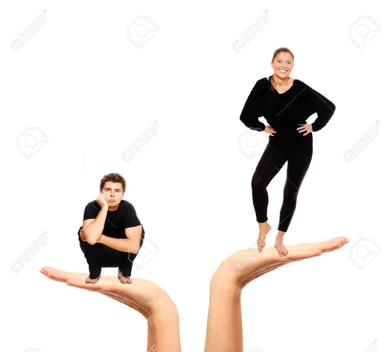 8524705-A-picture-of-a-sad-man-and-a-happy-woman-over-white-background-Stock-Photo